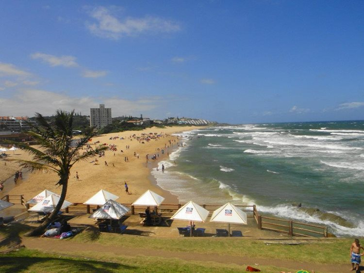 Beach in Margate South Africa